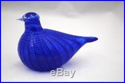 Oiva Toikka Iittala Art Glass Blue Bird
