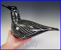 Oiva Toikka Iittala Finland Modernist Scandinavian Art Glass Bird Sculpture