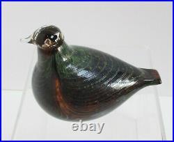 Oiva Toikka Iittala Finland Northern Duck, Art Glass Bird in Original Box