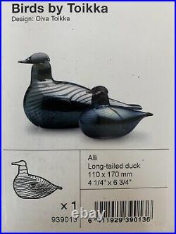 Oiva Toikka Iittala Glass Bird Long-tailed duck Brand New Boxed
