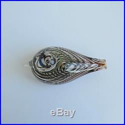 Oiva Toikka Iittala Glass Bird Whip Poor Will Pajusotka Striped Finland Signed
