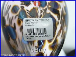 Oiva Toikka Iittala REED WARBLER Bird Made in Finland