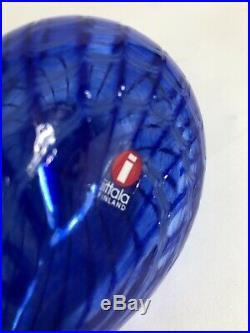 Oiva Toikka Iittala Special Swirl Blue Bird Signed Iittala Finland 16A