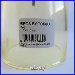 Oiva Toikka Mari Glass Bird Signed Sticker Label Mint Nuutajarvi Iittala Finland