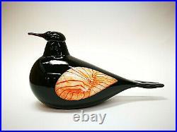 Oiva Toikka Mustarastas Redwinged Blackbird Tacoma Glass Design Iittala Finland