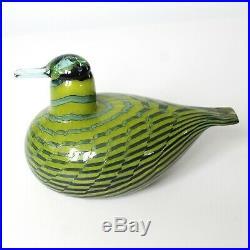 Oiva Toikka Nuutajarvi 1973 Tavitar Common Teal Green Glass Bird Iittala w Box
