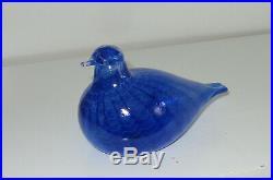 Oiva Toikka Nuutajärvi, Art Glass Bird Sinisulka (Bluebird)