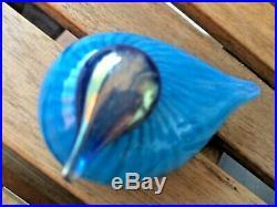Oiva Toikka Nuutajärvi Finland Iittala glass bird with great colours