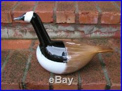 Oiva Toikka Nuutajarvi Iittala Finland Art Glass Bird BARNACLE GOOSE