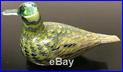 Oiva Toikka Nuutajarvi Iittala Glass Bird Common Teal Female Finland 8