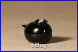 Oiva Toikka Nuutajärvi Iittala Puffball / Kuukunen black Bird Made in Finland