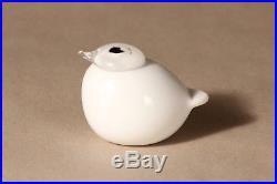 Oiva Toikka Nuutajärvi Iittala Puffball / Kuukunen white Bird Made in Finland