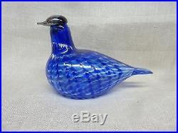 Oiva Toikka Nuutajärvi Iittala SINIKYYHKY limited edition Bird Made in Finland