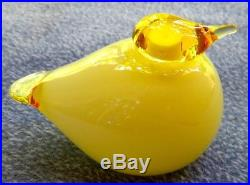 Oiva Toikka Nuutajärvi Iittala Yellow Puffball Bird Glass Figurine Finland