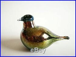 Oiva Toikka Rare Bird Art glass Design Birds by Toikka Iittala Finland