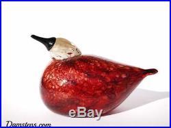 Oiva Toikka Rosy Finch bird glass design Birds by Toikka Iittala Finland
