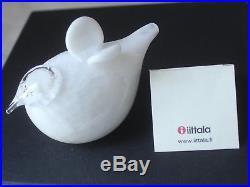 Oiva Toikka Signed Iittala Glass Pulmunen Rare Christening White Bird