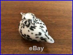 Oiva Toikka Small White Art Glass Bird iittala Nuutajärvi Arabia Finland SPOTTED