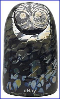 Oiva Toikka Sooty Owl Art Glass Bird Nokipollo Stockmann Iittala Finland NIB
