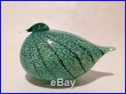 Oiva Toikka Special Bird Masa Yards 1995 glass design Birds by Toikka Iittala #3