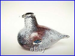 Oiva Toikka Special Bird Small NPL 1989 Design Glass Birds Iittala Finland RARE