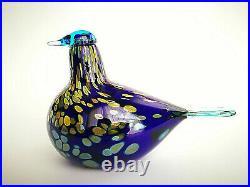 Oiva Toikka Special bird Sinikki glass art Birds by Toikka Iittala Finland