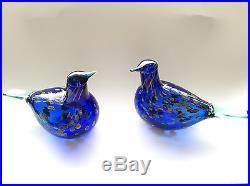 Oiva Toikka Special bird Sinikki glass design Birds by Toikka Iittala Finland