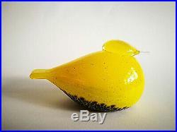Oiva Toikka Unique Bird Set Smew Yellow and Baby Iittala Glass Design NEW