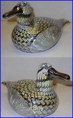 Oiva Toikka Vintage Art Bird Female Duck 1994 Iittala Nuutajarvi Finland