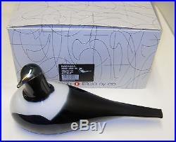 Oiva Toikka Vintage Art Bird Harakka Magpie 1990 Iittala Finland