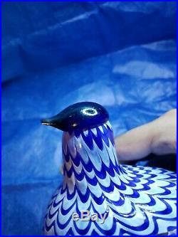 Oiva Toikka Vintage Art Bird Pilvikana Nuutajärvi Iittala Finland RARE