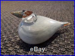 Oiva Toikka Vintage Art Bird Siberian Jay Nuutajarvi Iittala Finland
