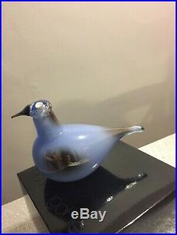 Oiva Toikka Vintage Blue Bird Nuutajärvi Iittala Finland Glass