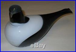 Oiva Toikka Vintage Magpie Harakka Glass Art Bird Iittala Finland Design 1990