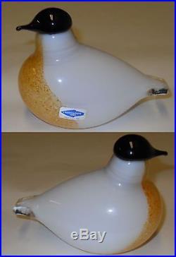 Oiva Toikka Vintage Pigeon Dove Art Glass Bird 1991 Iittala Finland Nuutajarvi