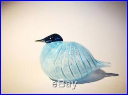 Oiva Toikka Wren Blue Art glass Design Birds by Toikka Iittala Nuutajärvi