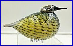 Oiva Toikka Yellow Rumped Warbler Glass Bird Figurine Iittala Finland # 28/300