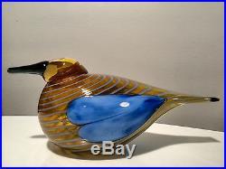 Oiva Toikka art glass bird BLUE SCAUP DUCK 2004 Annual bird Iittala Finland