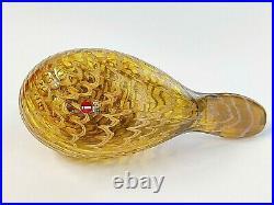 Oiva Toikka art glass bird KARELIAN GOLDEN CUCKOO, Iittala Nuutajärvi Finland