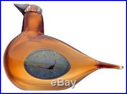 Oiva Toikka art glass bird MASHA, SSKK 2015, limited 250, Iittala
