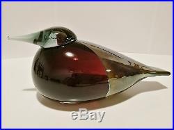 Oiva Toikka art glass bird PARISH CLERK, SSKK Iittala Nuutajärvi Finland RARE