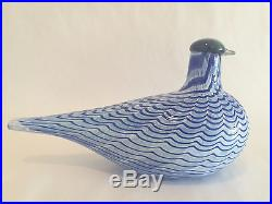 Oiva Toikka bird BLUE BIRD filigree glass design Birds by Toikka Iittala Finland