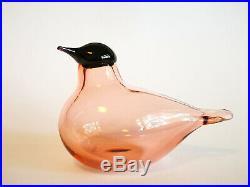 Oiva Toikka bird Chiffchaff Pink glass Design Birds by Toikka Iittala Finland