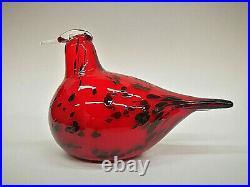 Oiva Toikka bird DALMA Red glass design Birds by Toikka Iittala Finland, BOX