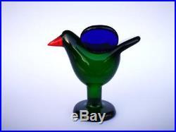 Oiva Toikka bird Flycatcher 70s glass design Birds by Toikka Iittala Finland