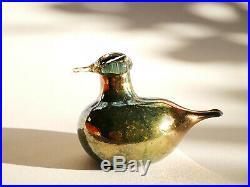 Oiva Toikka bird Golden-Crested Kinglet glass Design Birds by Toikka Iittala