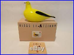 Oiva Toikka bird Golden Oriole art glass design Birds by Toikka Iittala BOX