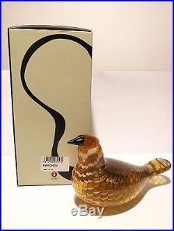 Oiva Toikka bird KARELIAN GOLDEN CUCKOO glass design Birds by Toikka Iittala BOX