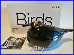 Oiva Toikka bird Kaahko glass design Birds by Toikka Unique days Iittala, BOX