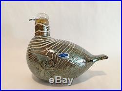 Oiva Toikka bird LONG-TAILED DUCK glass design Birds by Toikka Iittala Finland